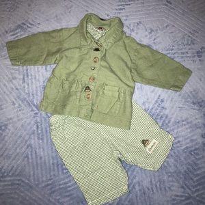 💜H&M Baby Girls Adorable Paddington Bear 2 pc Set